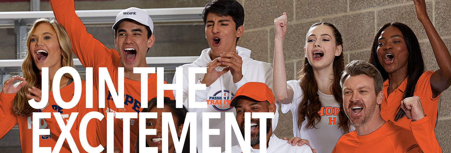 Hope College Online Athletics Store Join the Excitement Banner