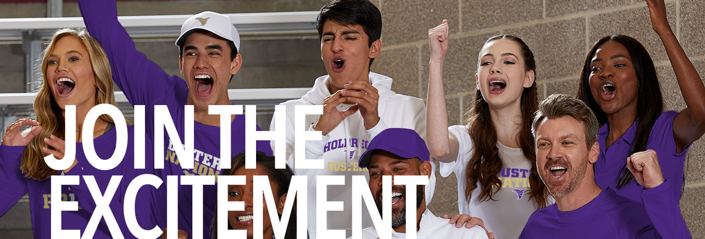 Holdrege Dusters Join the Excitement Banner