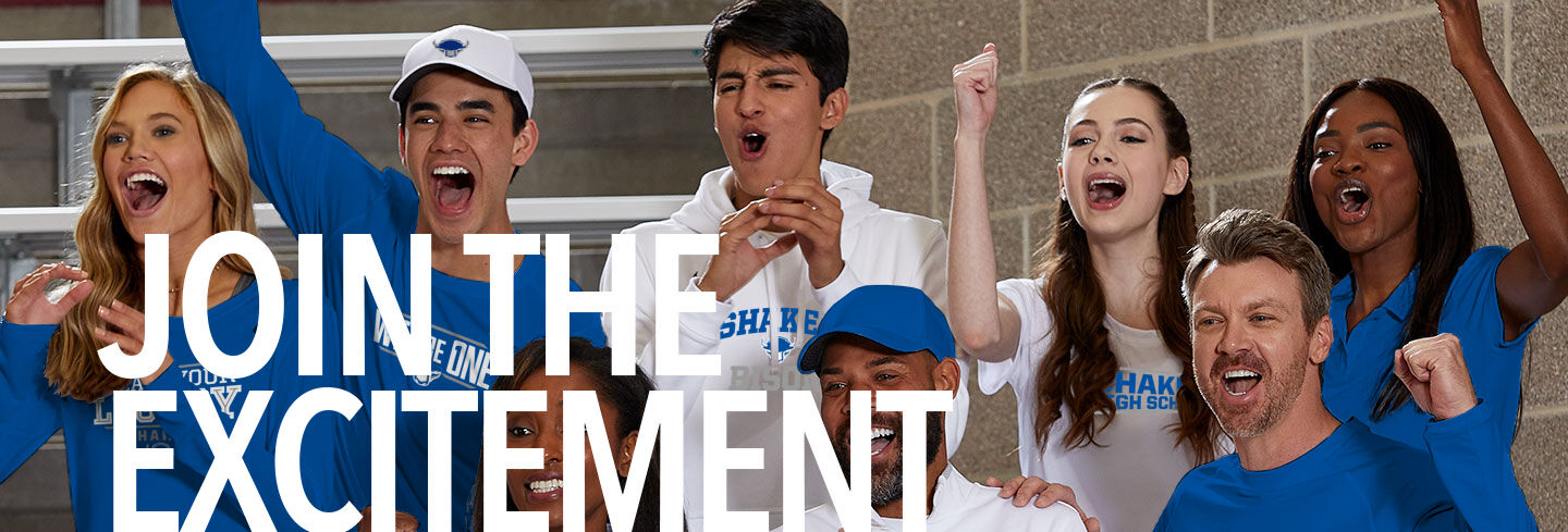 Shaker Bison Join the Excitement Banner