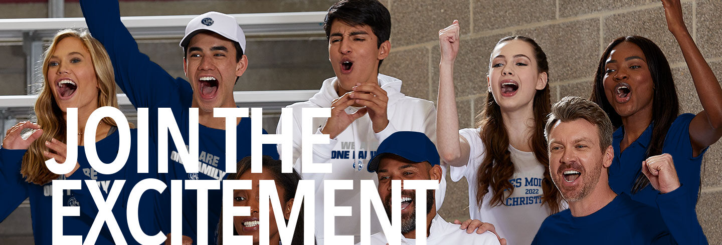 Des Moines Christian The Official Online Store Join the Excitement Banner