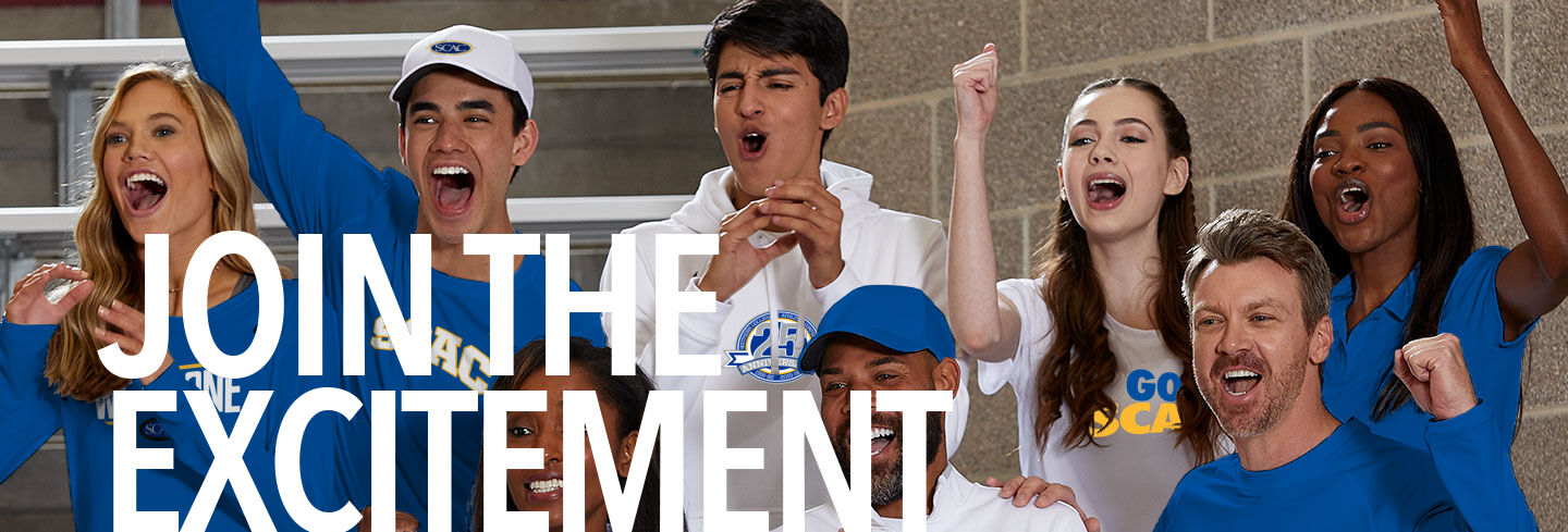 Southern Collegiate Athletic Conference Join the Excitement Banner