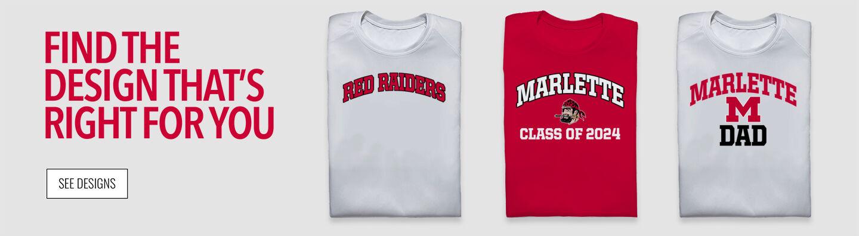 Marlette Red Raiders Find Your Design Banner
