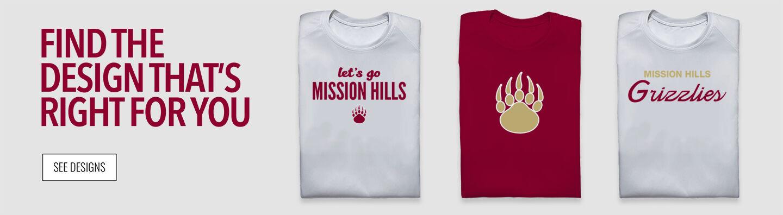 MISSION HILLS HIGH SCHOOL GRIZZLIES Find Your Design Banner