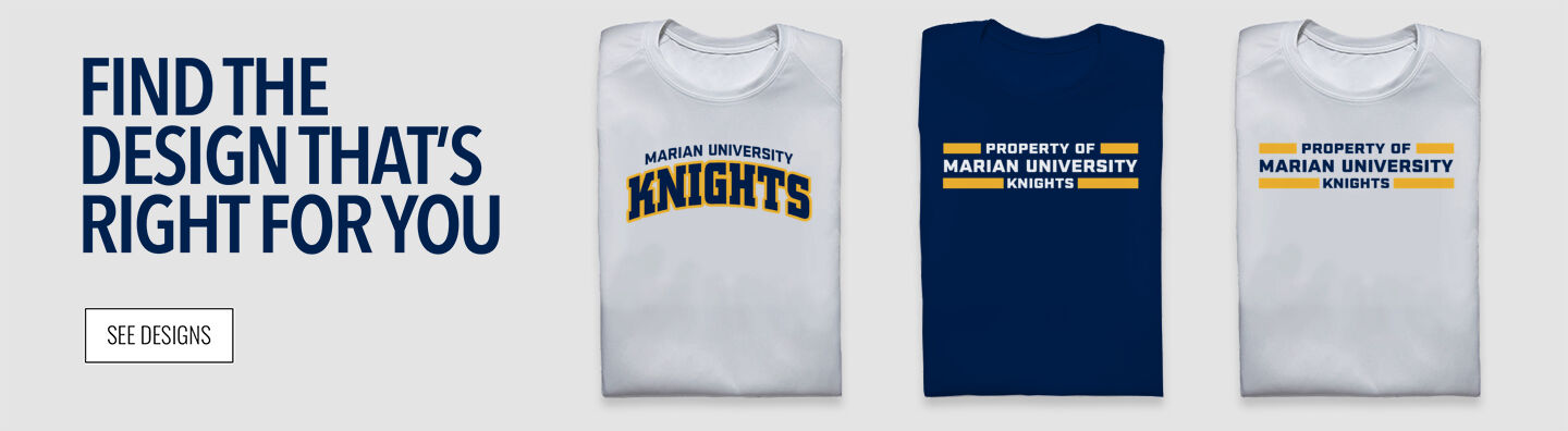Marian University Knights Find Your Design Banner