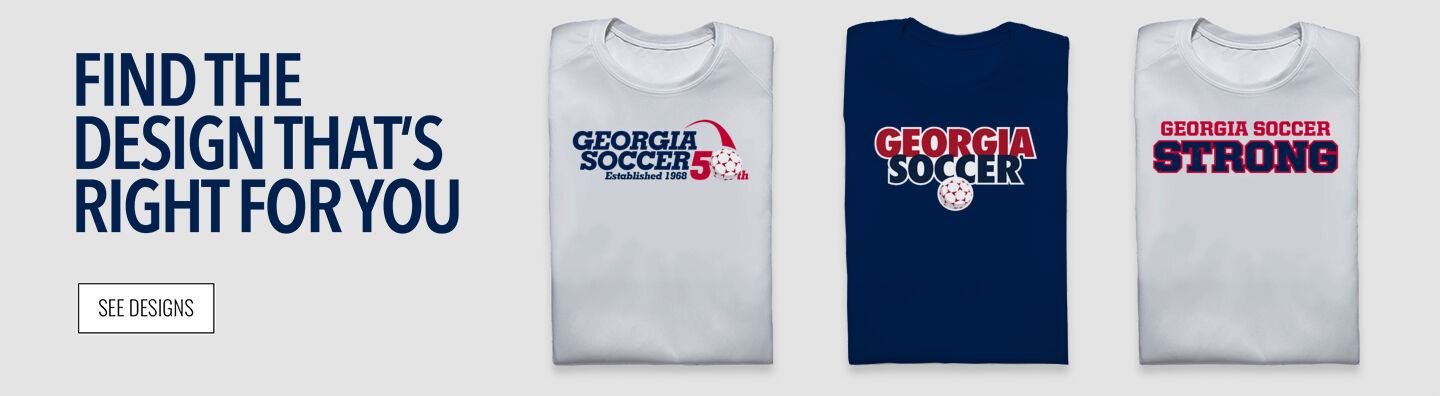 The Official Online Store of Georgia Soccer Find Your Design Banner