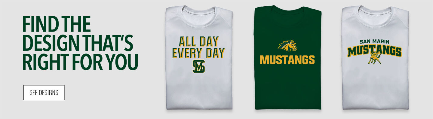 San Marin Mustangs Find Your Design Banner