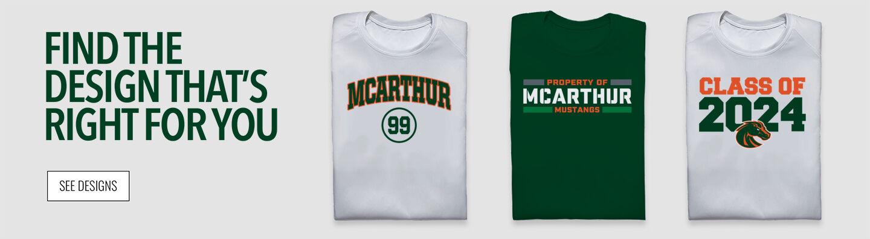 McArthur High School MUSTANGS Find Your Design Banner