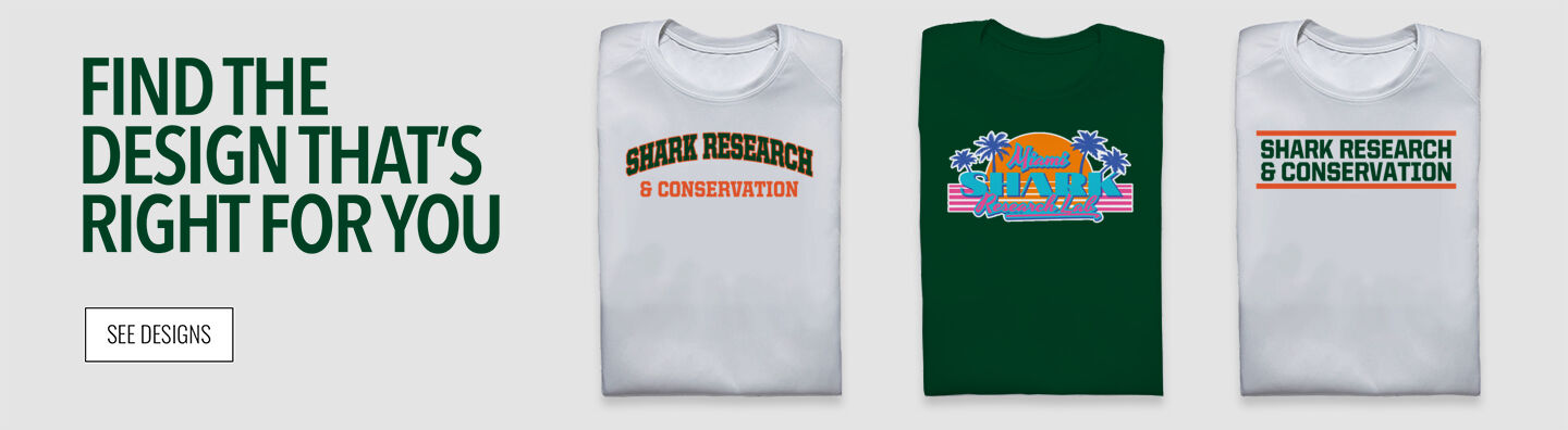 Shark Research & Conservation The Official Online Store Find Your Design Banner