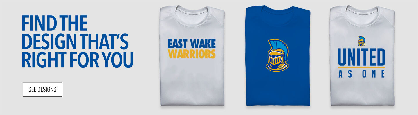 East Wake Warriors Find Your Design Banner