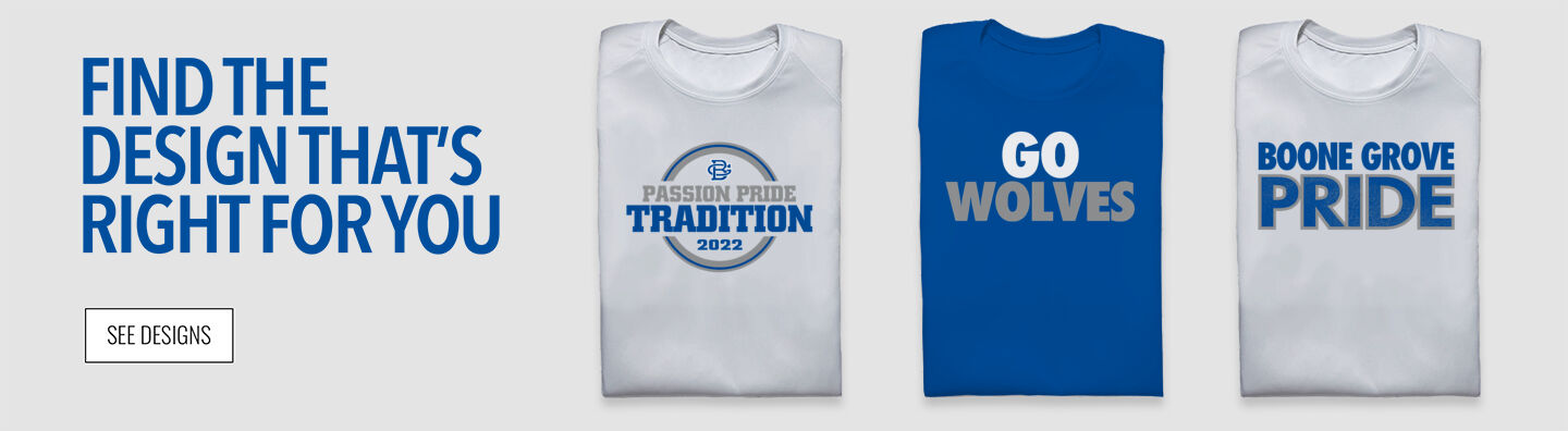 Boone Grove Wolves Find Your Design Banner