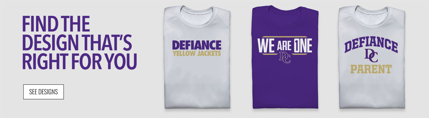 Defiance College Yellow Jackets Find Your Design Banner