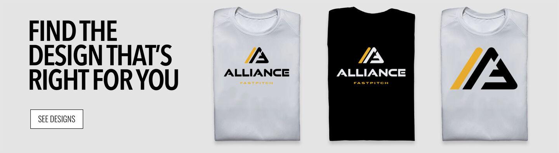 Alliance Fastpitch  Online Store Find Your Design Banner