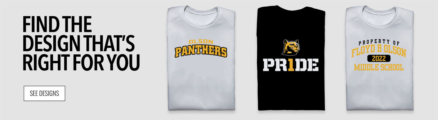 Olson Panthers Online Store Find Your Design Banner