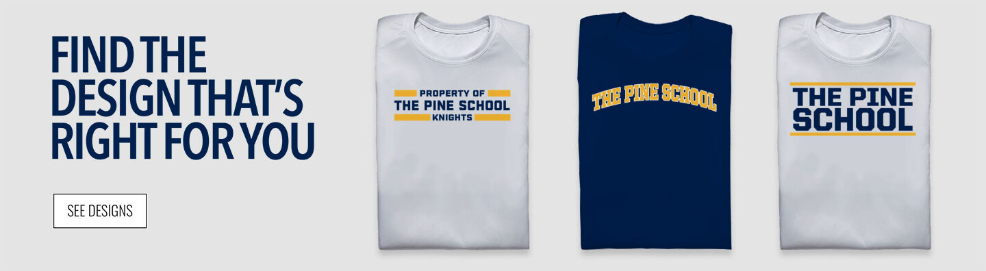The Pine School Knights Find Your Design Banner