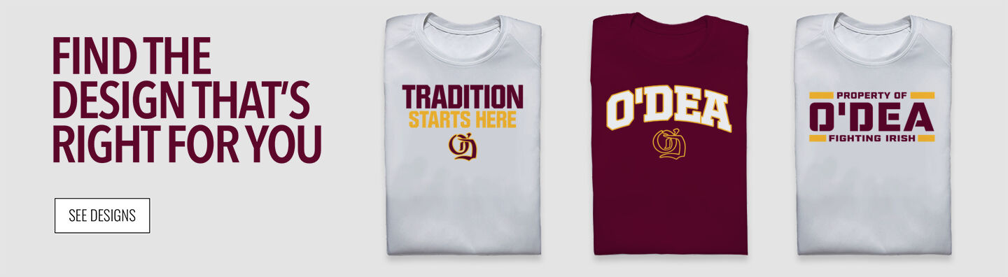 O'Dea Fighting Irish Official Online Store Find Your Design Banner