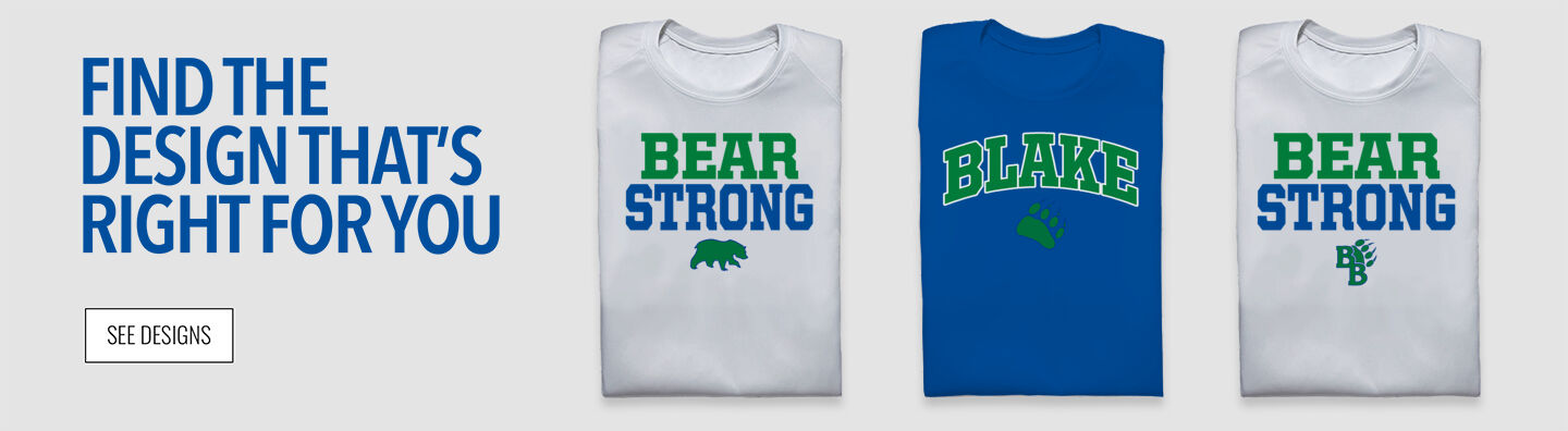 The Blake School BEARS ONLINE STORE Find Your Design Banner
