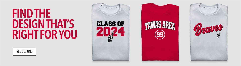 TAWAS AREA SENIOR HIGH SCHOOL BRAVES Find Your Design Banner