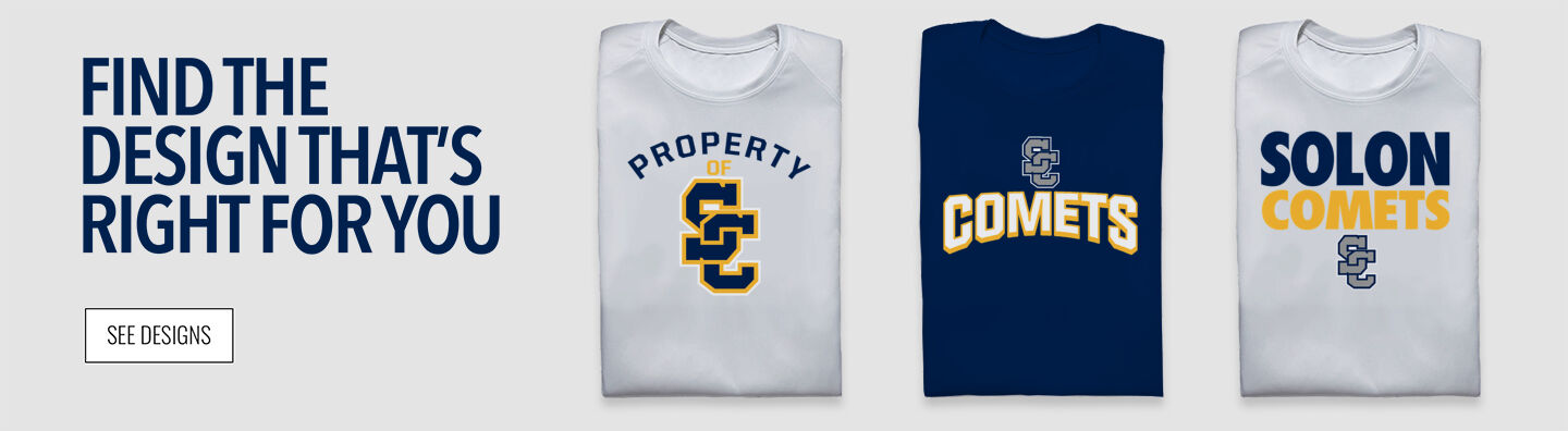 SOLON COMETS The Official Online Store Find Your Design Banner