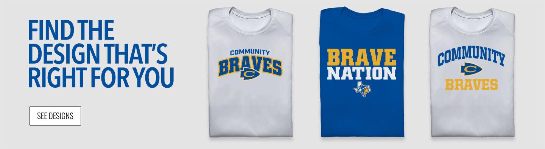 COMMUNITY HIGH SCHOOL Braves Online Store Find Your Design Banner