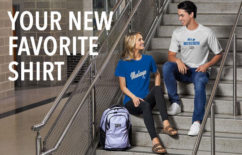 Monte Vista Christian Mustangs Your New New Favorite Shirt Banner