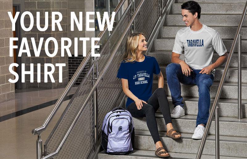 Taravella Trojans Your New New Favorite Shirt Banner