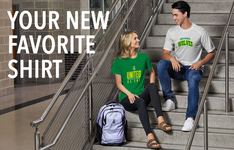 Green Meadows Wolves Your New New Favorite Shirt Banner