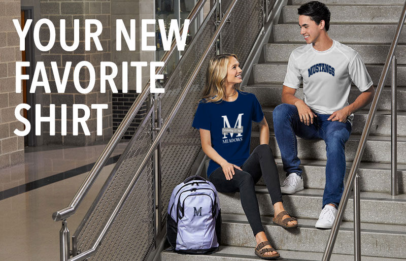 Meadows School The Official Store of the Mustangs Your New New Favorite Shirt Banner