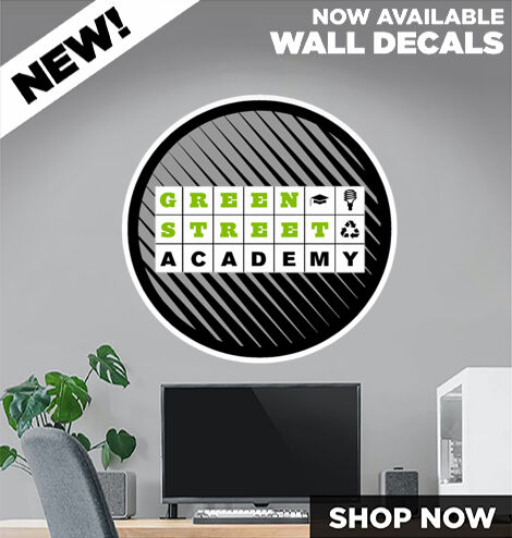 Green Street Chargers DecalDualBanner Banner