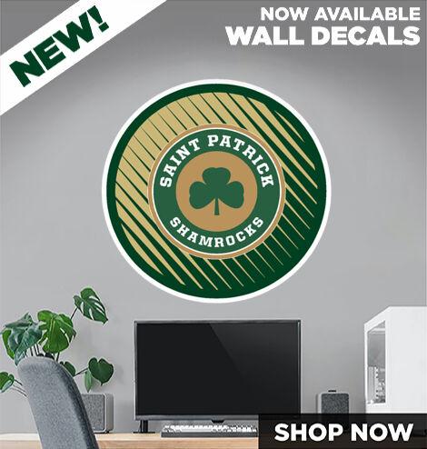 Saint Patrick Shamrocks DecalDualBanner Banner