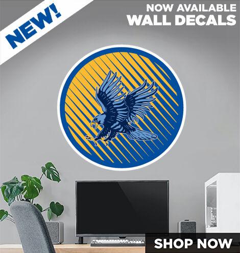HUDSON HIGH SCHOOL BLUEHAWKS DecalDualBanner Banner