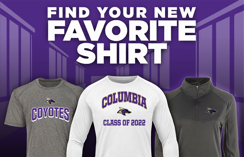 COLUMBIA HIGH SCHOOL COYOTES Favorite Shirt Updated Banner
