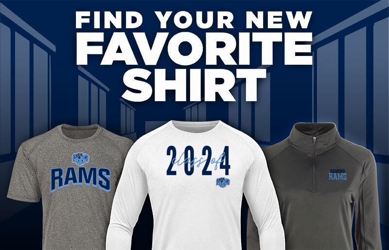 RAMONA HIGH SCHOOL RAMS Favorite Shirt Updated Banner