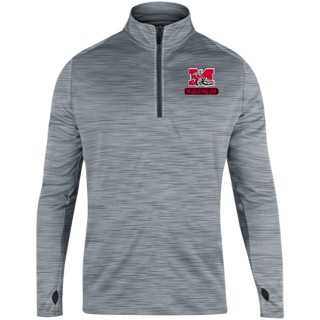 1/4 Zip Drop Tail Heather Perf Pullover