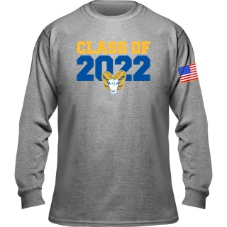 Gildan Long Sleeve T-Shirt With Flag