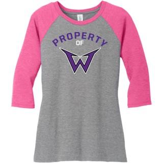 District Women's Perfect Tri 3/4-Sleeve Raglan