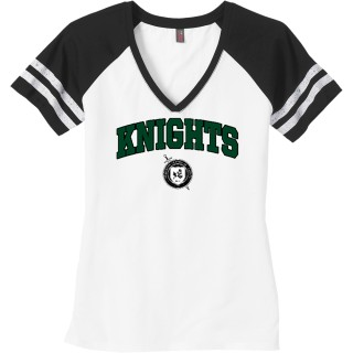 District Women's Game V-Neck Tee