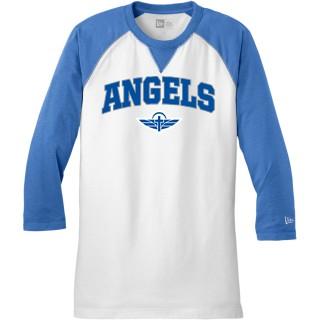 New Era Sueded Cotton Blend 3/4-Sleeve Baseball Raglan Tee
