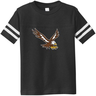 Rabbit Skins Toddler Football Fine Jersey Tee
