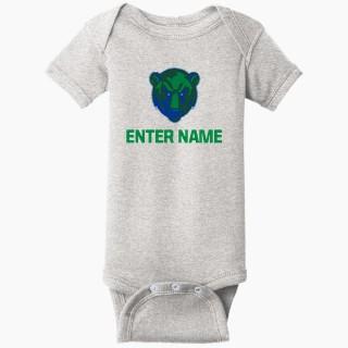 Rabbit Skins Infant Short Sleeve Baby Rib Onesie