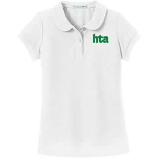 Port Authority Girls Silk Touch Peter Pan Collar Polo