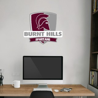 Wall Decal - Rounded Shield With Banner
