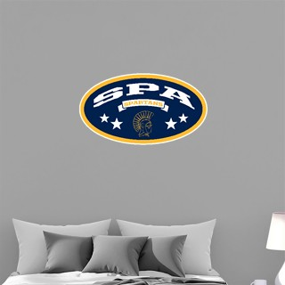 Wall Decal - Oval With Stars
