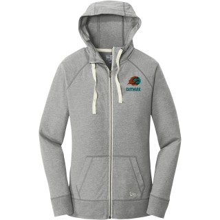 New Era Ladies Sueded Cotton Blend Full-Zip Hoodie